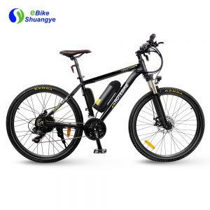 26 inch aluminum alloy frame mountain electric bicycle single speed